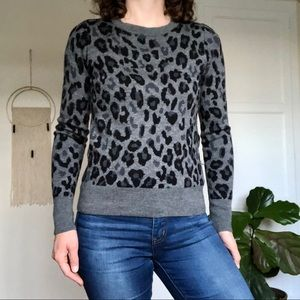 Halogen Sweaters - Leopard Print 💯% Merino Wool Sweater by Halogen